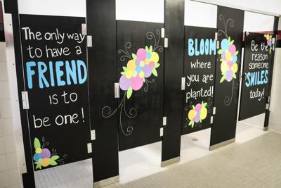 Finley Farms teachers make kids' restrooms inspirational