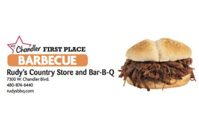 Rudy's Country Store and Bar-B-Q  7300 W. Chandler Blvd.  480-874-6440