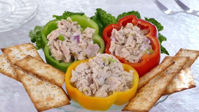 This recipe is fantastic in a sandwich, stuffed in peppers, spread on crustini or scooped on top of a fresh salad.