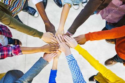 31311955 - group of diverse multiethnic people teamwork