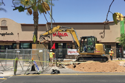 Downtown Chandler businesses construction work ImprovMANIA