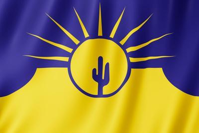 Flag of Mesa city, Arizona (US)