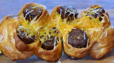 It's the perfect pull-apart, dipping twist on your favorite hot dogs and sausages