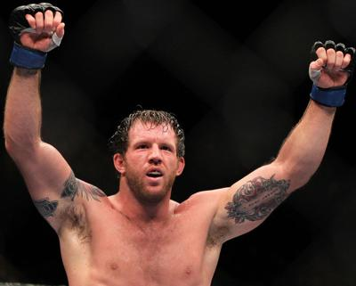 Ryan Bader of Queen Creek recently won his first MMA championship belt.