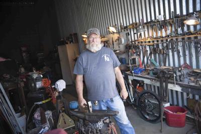 Mesa blacksmith Donn Wagner