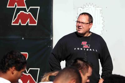 Red Mountain head football coach Mike Peterson