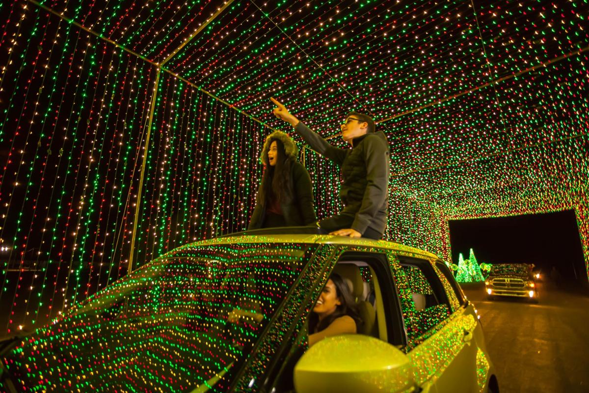 """""""Illumination: Symphony of Light"""" takes the whole family on a 25-minute ride through a mile of lights synchronized to holiday classics over FM radio."""