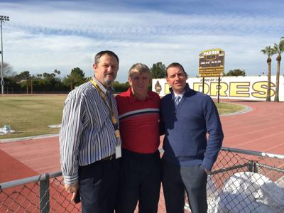 Marcos de Niza High School Assistant Principal for Athletics Brian Fleming, head football Coach Paul Moro and Principal Sean McDonald say they're pleased to get the help
