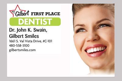 Dr. John K. Swain,  Gilbert Smiles  1661 S. Val Vista Drive, #C-101