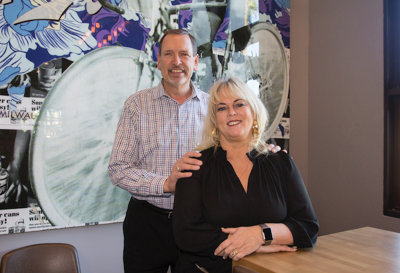 David and Christie Burnett, pictured here, are co-owners of Hop Social Tavern, a new restaurant in Chandler. The other co-owners, not pictured, are Bud and Kathy Gabriel. Together, the four co-owners are known as Crossroads Restaurant Group, and they own three other restaurants, which are in Oregon.