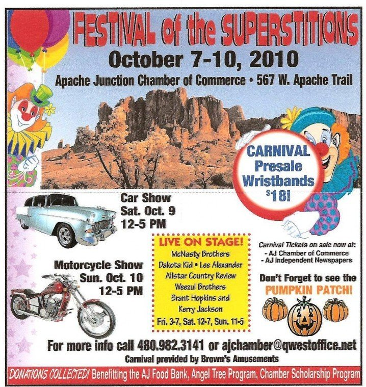 Festival Of The Superstitions Get Out Eastvalleytribunecom - Apache junction car show