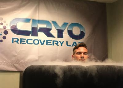 """""""Brayden Smith partakes in a weekly cryotherapy session at Cryo Recovery Lab in Tempe. A senior defensive lineman at Ironwood Ridge High School in Tucson, Smith uses whole body cryotherapy to keep his body refreshed and free of injuries."""""""