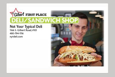 Not Your Typical Deli 1166 S. Gilbert Road, #101