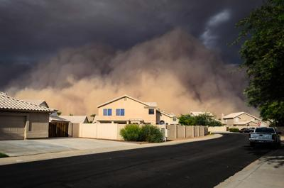 Joseph Plotz of Gilbert captured this look at a haboob rolling toward his neighborhood.