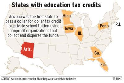 States with education tax credits