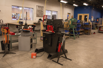 Equipment at TechShop Chandler awaits users. The shared work space, which seemed about to reopen, is in limbo again.