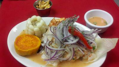 Ceviche, which includes shrimp and fish, has been part of Peru's heritage for 2,500 years.