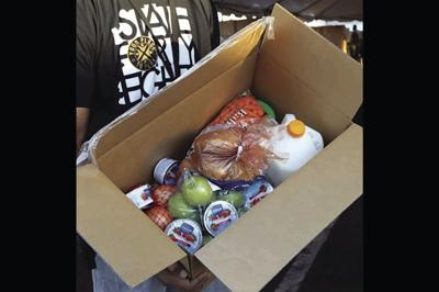 Food boxes from United Food Bank