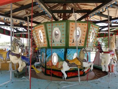 The carousel at Schnepf Farms is undergoing changes before the Pumpkin and Chili Festival.