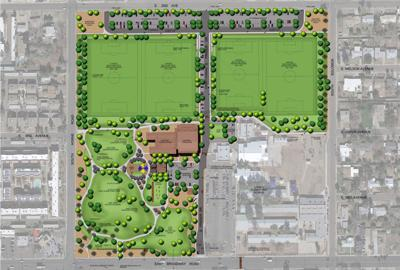 The old site of Mesa Junior High will be converted to soccer fields, multipurpose community rooms and staff offices for the Eagles Park center.