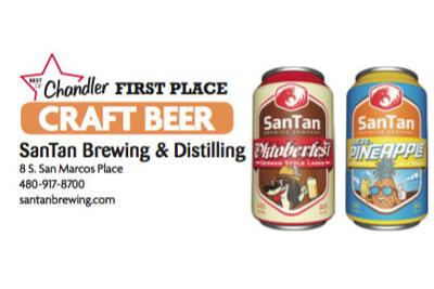 SanTan Brewing & Distilling  8 S. San Marcos Place  480-917-8700