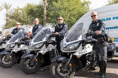 Traffic officers from the East Valley and around Arizona gathered at the state Capitol several weeks ago to kick off the state's annual effort to curb drunk drivers over the holiday period.