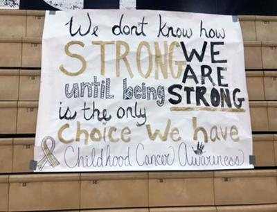 Red Mountain Volleyball Cancer awareness game