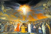 Church mural brings religious figures to life