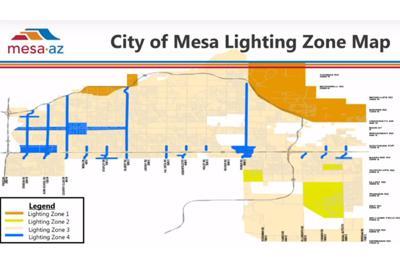 City of Mesa Lighting Zone Map