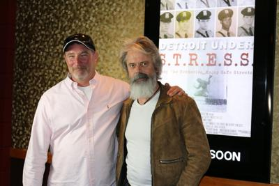 """David Van Wie, left, documented the history of a controversial Detroit police unit in """"Detroit Under S.T.R.E.S.S.,"""" which was narrated by C. Thomas Howell, right."""