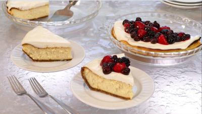 This cheesecake is delicious plain or with fresh berries in season.
