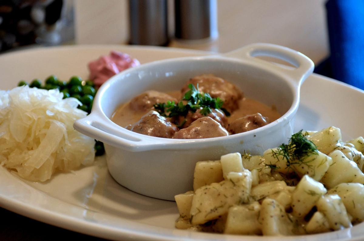 Beaver Choice serves Svenska Köttbullar – Swedish meatballs with cardamon, cream sauce and lingonberry preserves.