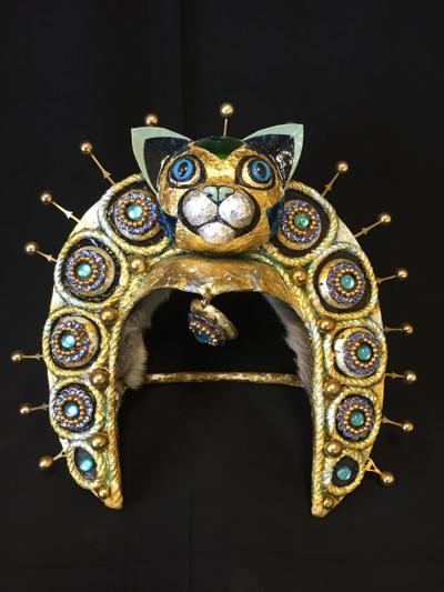 """This piece is part of """"Cat People of the Outer Regions,"""" a collection featuring the art of Karen Kuyendall"""