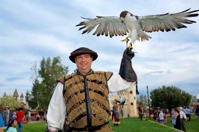Lord Robert Chessman, the queen's royal Falconer
