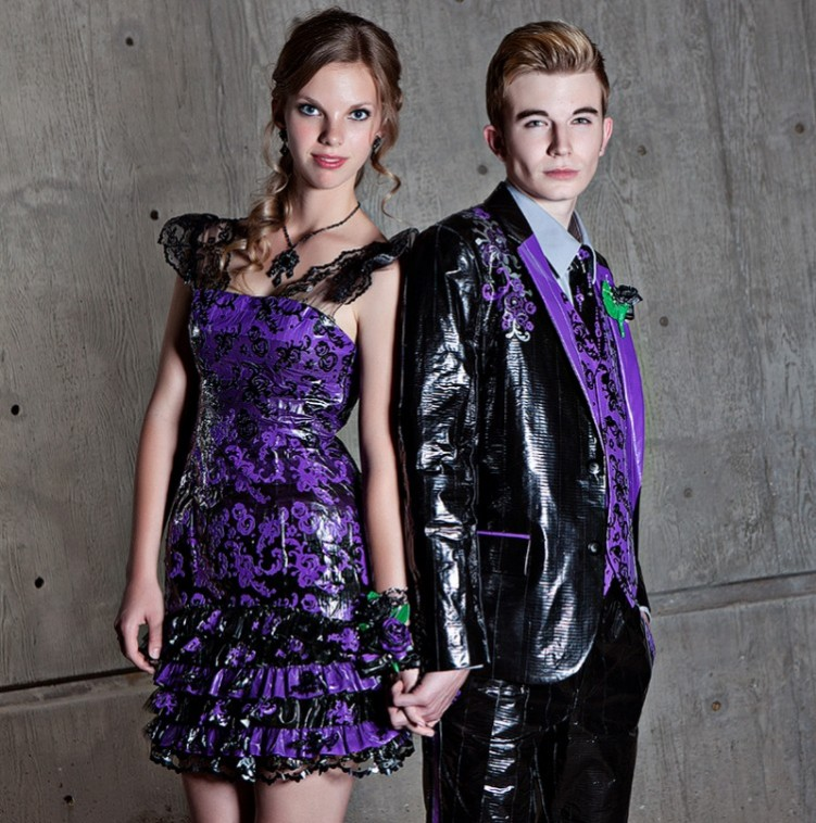 Duct tape prom dress, tuxedo have grads up for scholarships | East ...
