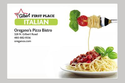 Oregano's Pizza Bistro 328 N. Gilbert Road