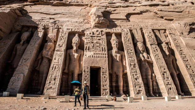 The ancient Egyptian temple of Abu Simbel