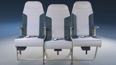 Airplane middle seat design