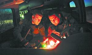 Border Patrol agents getting a GPS reading