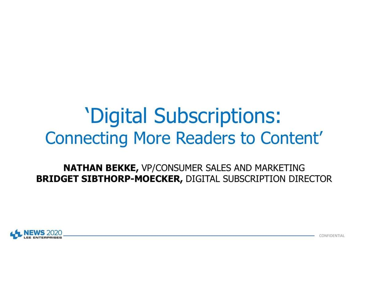 Why we focus now on digital subscriptions
