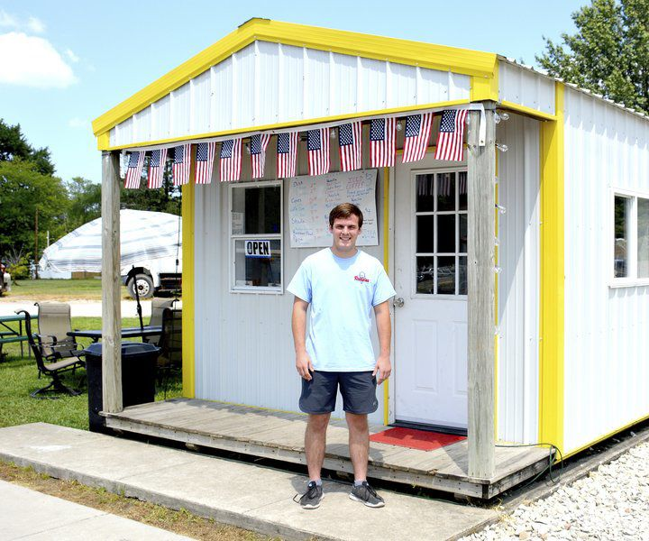 Beecher City resident fills void with food stand