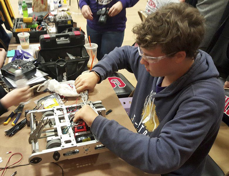 Local high schools compete in robotics competition
