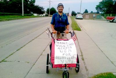 Man walking cross-country to help homeless vets