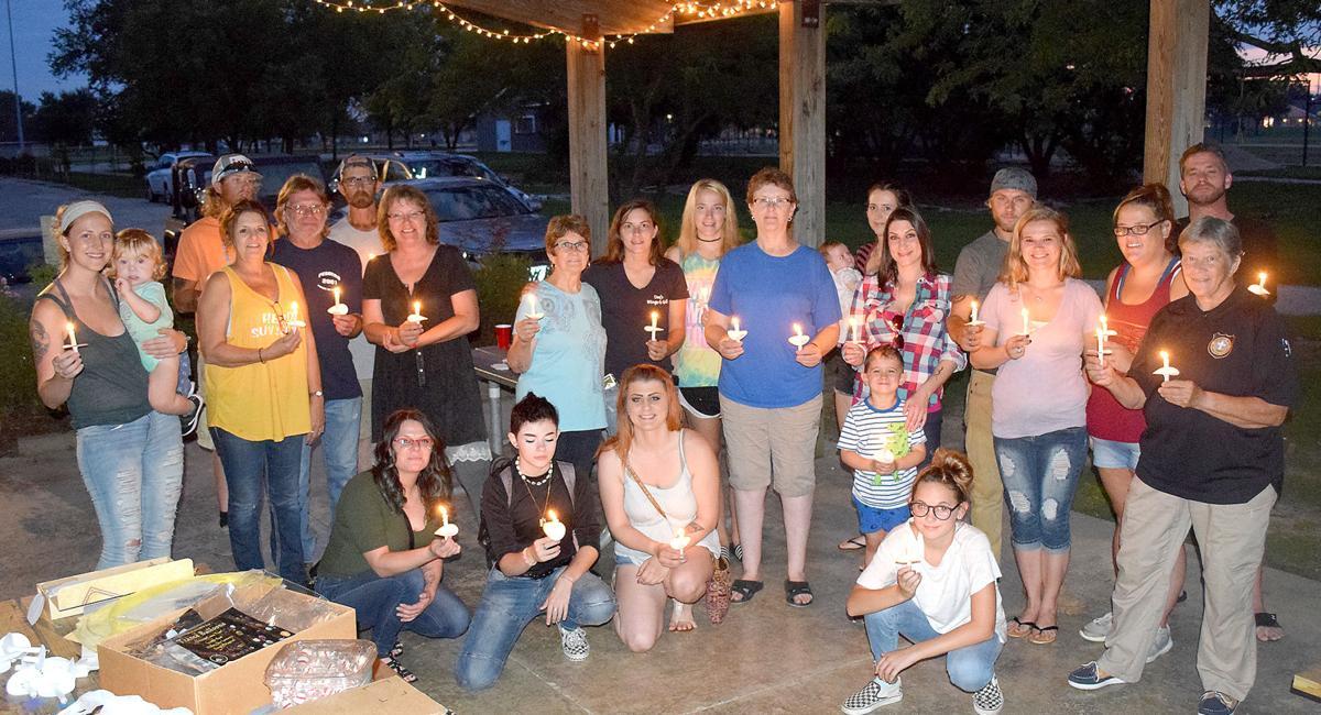 Friends gather for International Drug Overdose Awareness