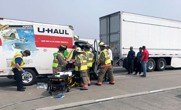 Driver airlifted after interstate crash Monday