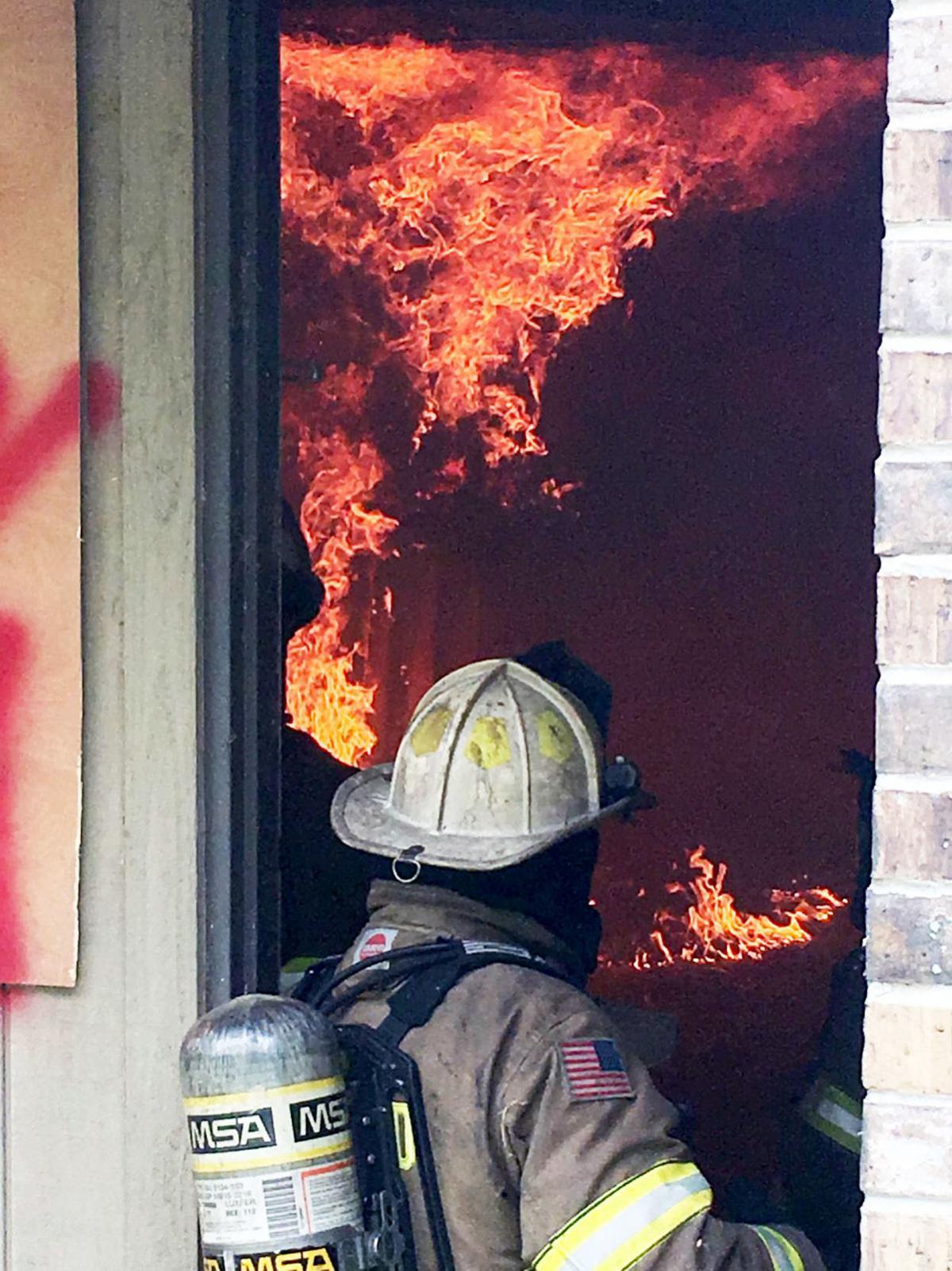 fireman entering