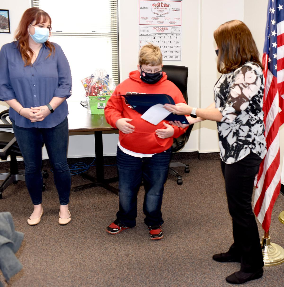 911 Board honors Lucas Grupe Tuesday