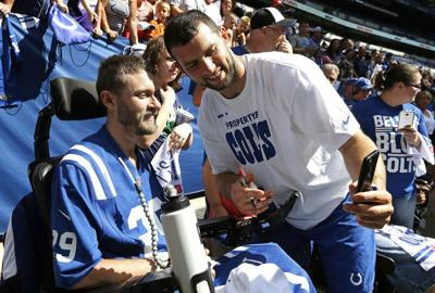 Without headliners, Colts turn opening practice into party