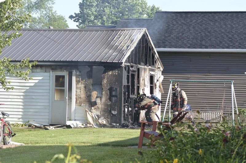 Suspicious fire being investigated; one person injured