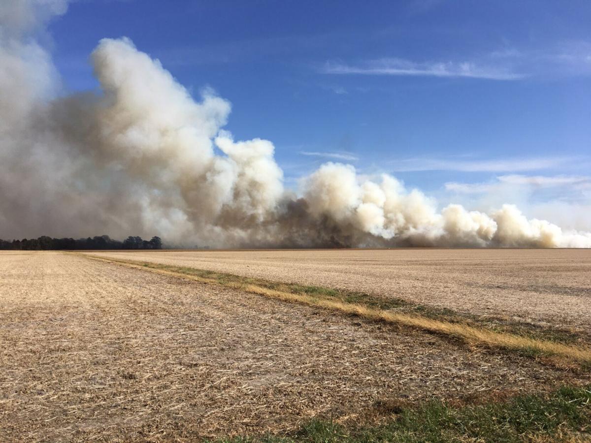 Field fire northwest of Altamont